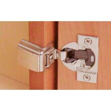 COMPACT Full Overlay Press-In Concealed European Cabinet Door Hinge with 110 Degree Opening Angle and BLUMOTION Function - Single Hinge