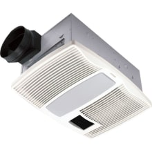 110 CFM 0.9 Sone Ceiling Mounted HVI Certified Bath Fan With Light And Night  Light From