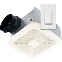 80 CFM 0.3 Sone Ceiling Mounted Energy Star Rated And HVI Certified Utility  Fan With Wall