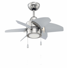 Outdoor Ceiling Fan With Light Outdoor ceiling fans lightingdirect propel 24 6 blade indoor outdoor ceiling fan blades and led light kit workwithnaturefo