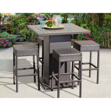 Wine Country 5 Piece Aluminum Framed Outdoor Pub Set With Backless Barstools