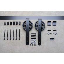 5000 Series 72 Inch Wagon Wheel Barn Door Hardware · Delaney BD506