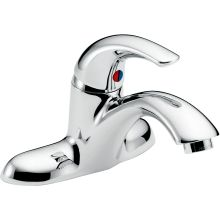 Single Handle 1 5gpm Bathroom Faucet With Wrench Flat Aerator And Pop Up Hole Less Delta 22c001