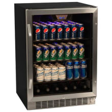Gentil 24 Inch Wide 148 Can Built In Beverage Cooler With Tinted Door