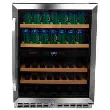24 Inch Wide Wine And Beverage Cooler With Dual Zone Operation