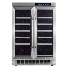 24 Inch Wide 36 Bottle Built In Wine Cooler With Dual Cooling Zones