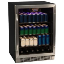 refrigerator undercounter. 24 inch wide 148 can built-in beverage cooler with tinted door refrigerator undercounter
