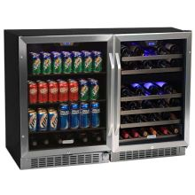 48 Inch Wide 46 Bottle 148 Can Side By Side Wine And Beverage Center