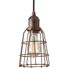 Urban Renewal 1 Light Mini Pendant with Wire Cage Shade