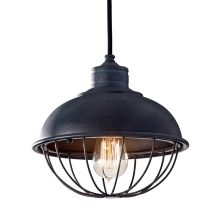 Urban Renewal 1 Light Mini Pendant with Metal Shade and Cage