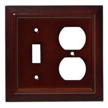 classic single toggle switch and single duplex wall plate