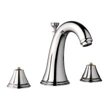 Geneva 1 2 Gpm Widespread Bathroom Faucet With Silkmove Ceramic Disc Free Metal Drain Embly