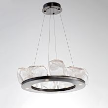 Gem 12 Light 27 Wide Integrated Led Chandelier With Configurable Gl Shades