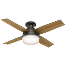 Hugger fans dempsey 44 4 blade led indoor ceiling fan with light kit and remote control included aloadofball Images