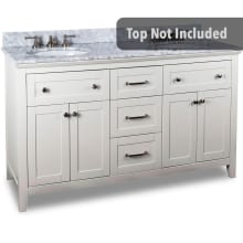 59 11/16 Inch Double Free Standing Hardwood Vanity Cabinet Only From The  Chatham