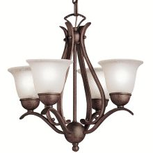 Mini chandeliers at lighting direct dover 4 light 18 wide single tier mini chandelier with etched glass shades aloadofball Choice Image