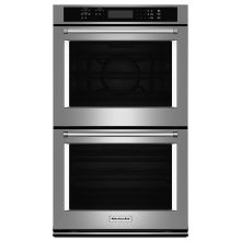 30 inch wide electric 100 cu ft double wall oven with evenheat
