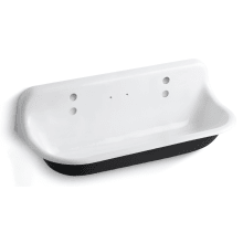 Brockway 4ft. Wash Sink With Drillings For Two Faucets