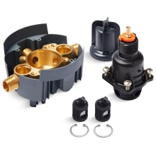 Rite-Temp Pressure Balanced Valve Body and Cartridge Kit with Service Stops
