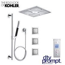 luxury shower system includes 3 port digital valve watertile rain shower head hand