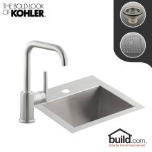Kohler Vault Kitchen Sink Kohler kitchen sink and faucet combos faucet vault kitchen kit with 15 stainless steel single basin kitchen sink and pullout spray kitchen workwithnaturefo