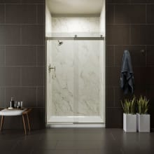 Levity 44 48 Clear Sliding Shower Door With Cleancoat Technology