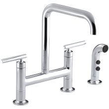 Double Hole Kitchen Faucets At Faucet Com