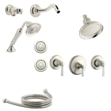 Bancroft Thermostatic Shower System With Single Function Shower Head, Hand  Shower, Body Sprays,