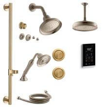 Bancroft DTV+ Shower System With Single Function Shower Head, Hand Shower,  Slide Bar,