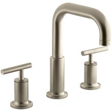 purist deck mounted roman tub faucet trim