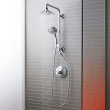 moxie hydrorail custom shower system with flipside handshower - Shower Faucets