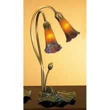 Stained Glass / Tiffany Desk Lamp from the Lilies Collection