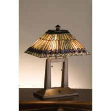 Stained Glass / Tiffany Table Lamp from the Jeweled Peacock Collection