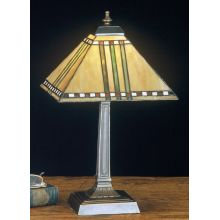 Stained Glass / Tiffany Accent Table Lamp from the Prairie Corn Collection