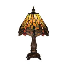 Stained Glass / Tiffany Accent Table Lamp from the Hanginghead Dragonfly Collection