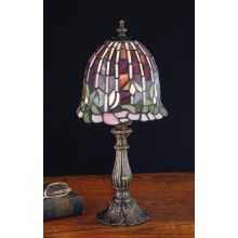 Stained Glass / Tiffany Accent Table Lamp from the Flowering Lotus & Wisteria Collection