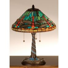 Stained Glass / Tiffany Table Lamp from the Mosaic Dragonfly Collection