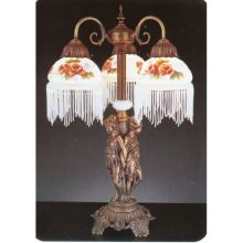 Tiffany Three Light Table Lamp