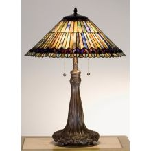 Stained Glass / Tiffany Accent Table Lamp from the Jeweled Peacock Collection