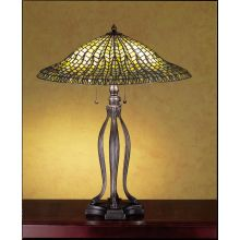 Stained Glass / Tiffany Table Lamp from the Lotus Leaf Collection
