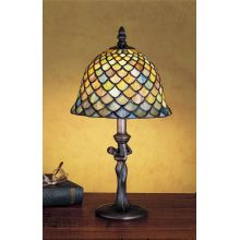 Stained Glass / Tiffany Accent Table Lamp from the Tiffany Fishscale Collection