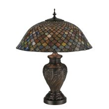 "24"" H Tiffany Fishscale Table Lamp"
