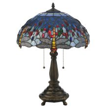 "22"" H Tiffany Hanginghead Dragonfly Table Lamp"
