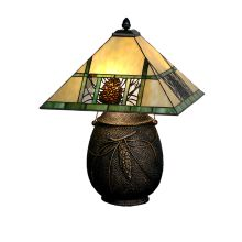 "19.5"" H Pinecone Ridge Table Lamp"