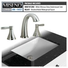 Bathroom Combo 18 3 4 Undermount Sink With Overflow And Widespread