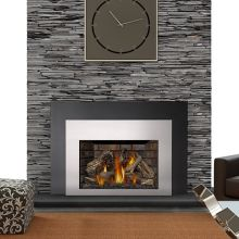 natural gas fireplace insert wood burning 24000 btu insert direct vent natural gas fireplace with safety barrier and electronic ignition from the inserts buildcom