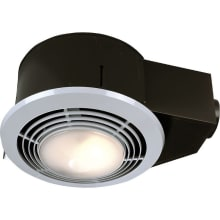 70 CFM 3.5 Sone Ceiling Mounted HVI Certified Bath Fan With Light, Heater  And Night