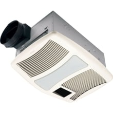 110 CFM 0.9 Sone Ceiling Mounted HVI Certified Bath Fan With Incandescent  Lighting And Night Light