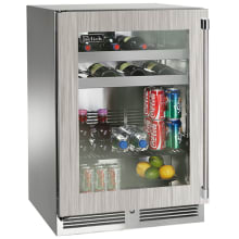 24 Inch Wide 62 Can Capacity Outdoor Beverage Center With RAPIDcool  Forced Air Cooling System