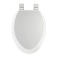 Greenwood Elongated Wooden Toilet Seat with Slow Closing Lid